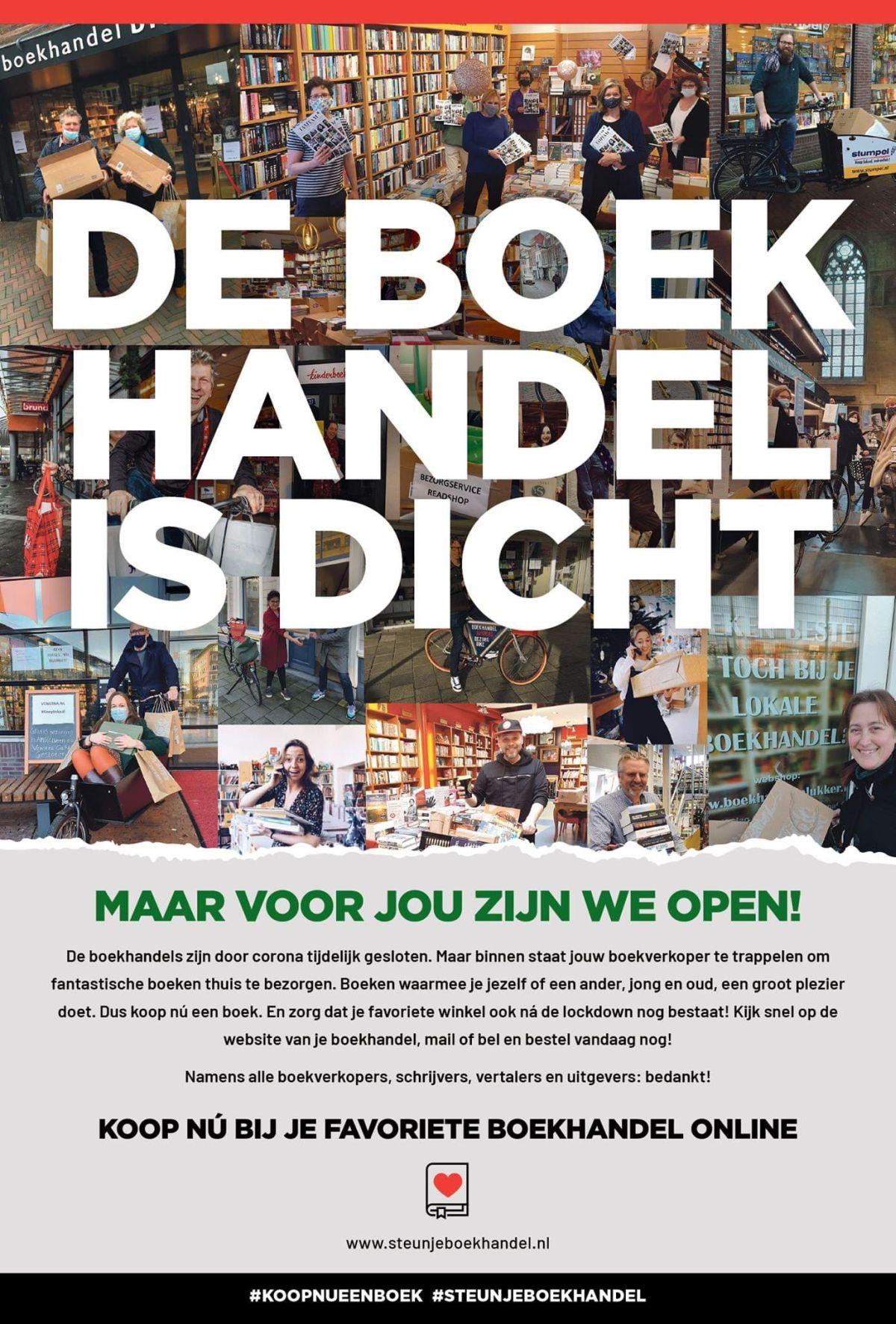 Advertentie De boekhandel is dicht van CPNB