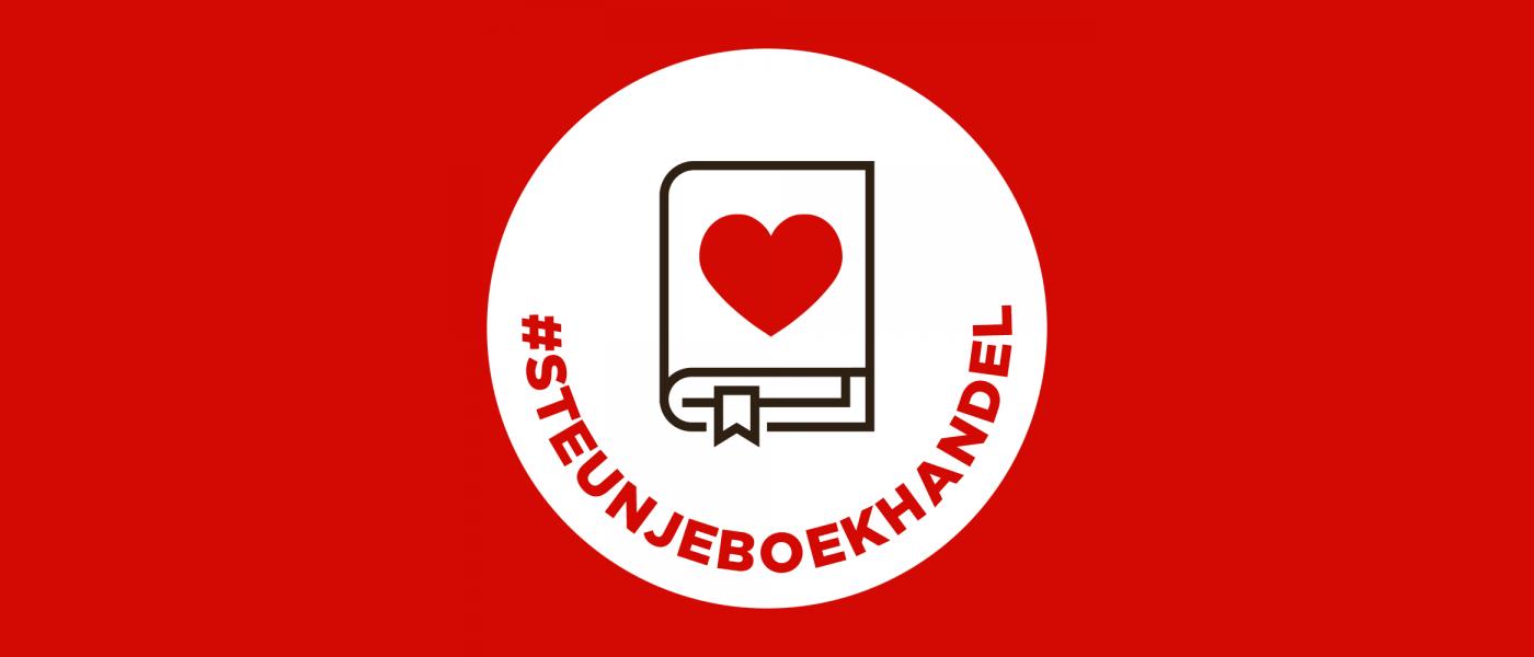 Campagnebeeld van CPNB voor #steunjeboekhandel